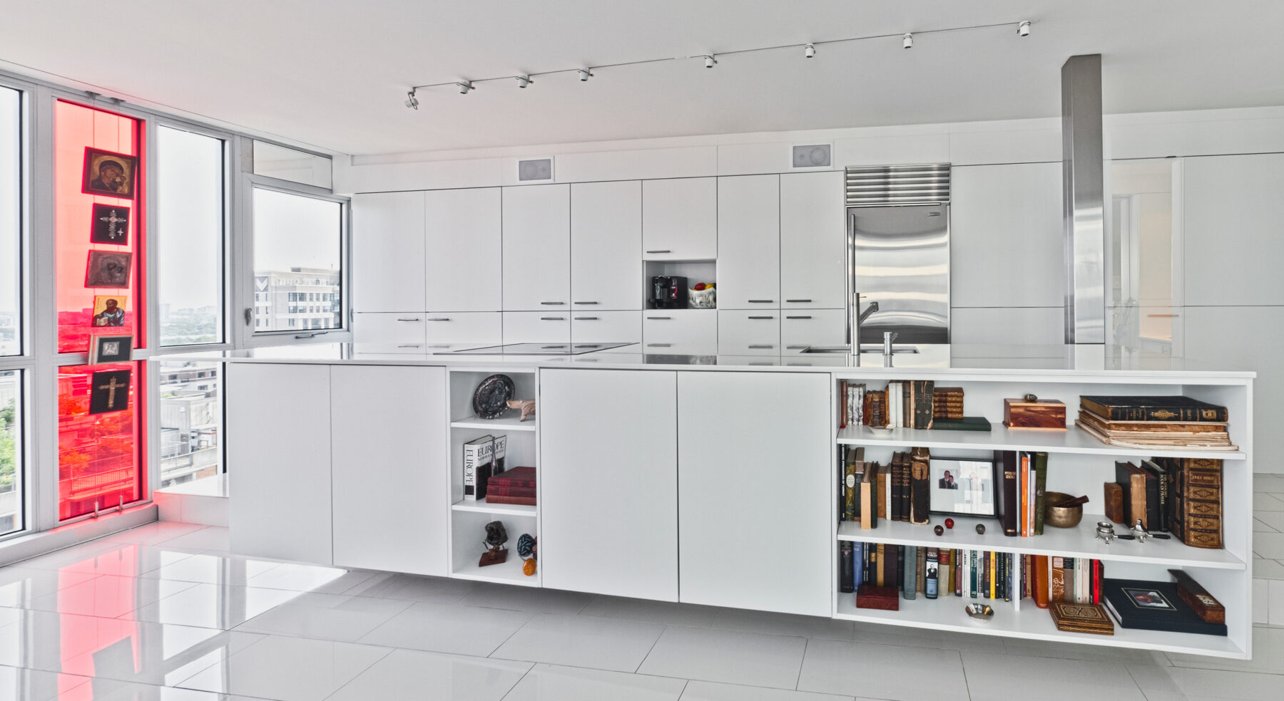Wide view of Redeveloper Apartment kitchen