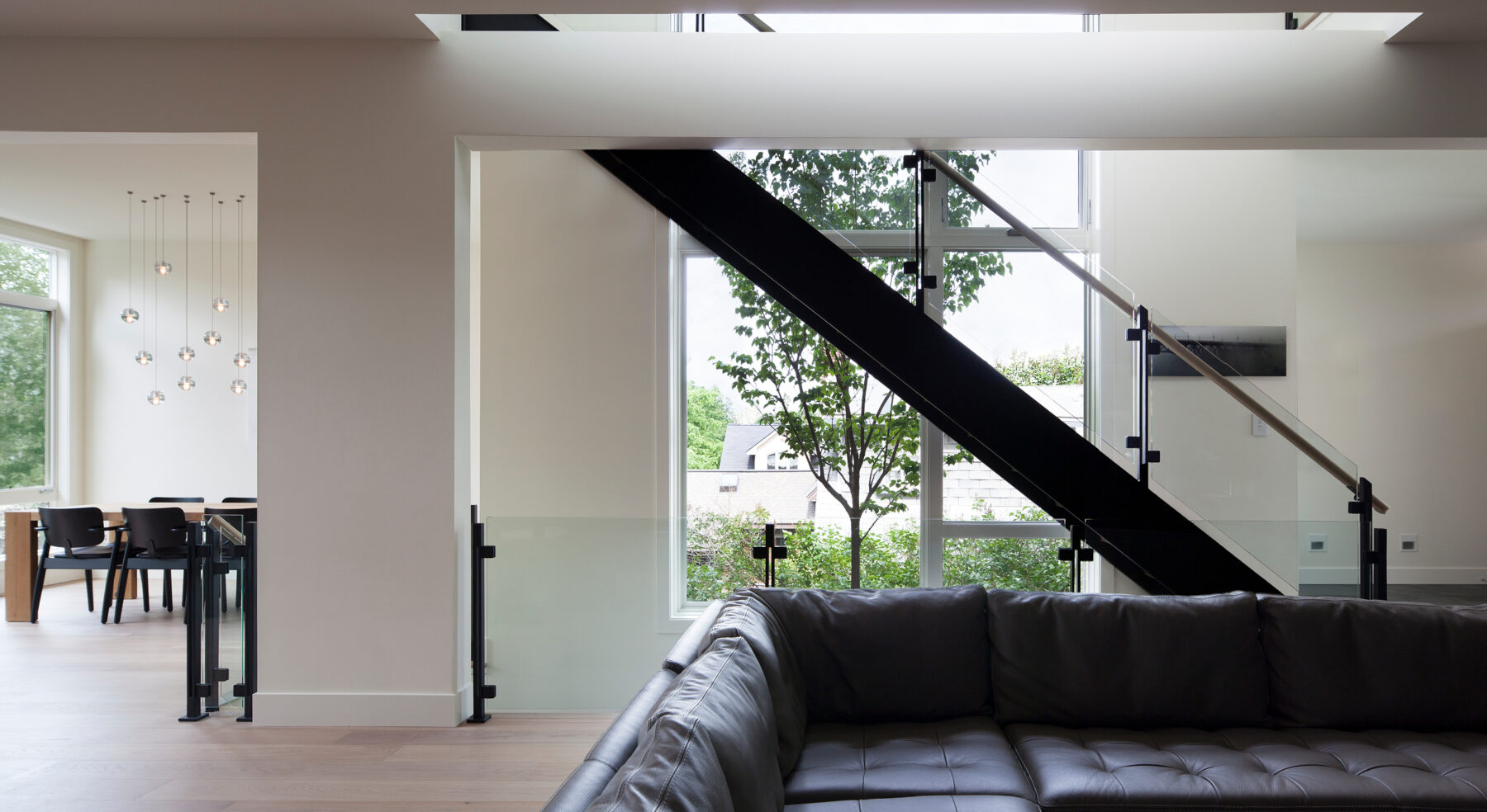 View of stairs from living area in Westboro Home