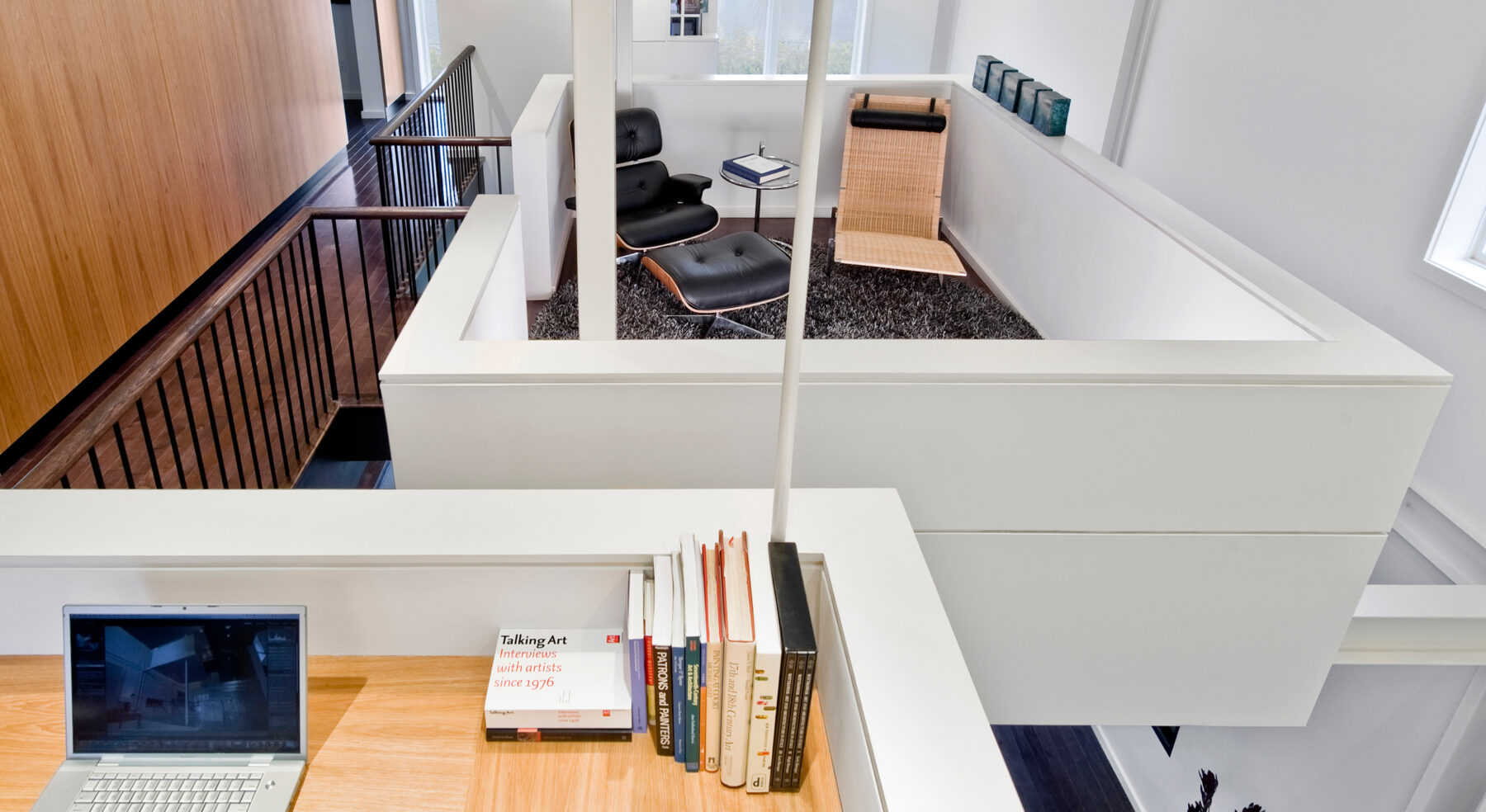 View of Echo House floating study pods