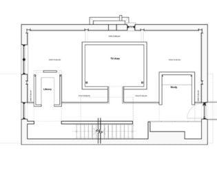 Upper floor plan of Echo House