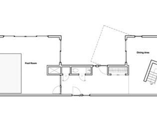 Main floor plan for A Bower House