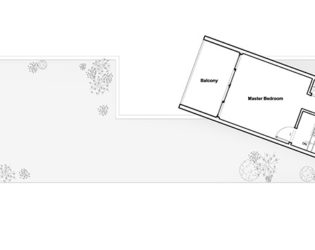 Upper floor plan for A Bower House