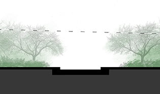 A Bower House raised structure visualization