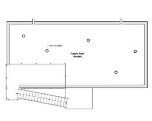 Roof Floor Plan for Chelsea Hill House