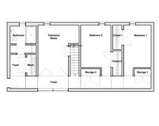 Second-level Floor Plan for Chelsea Hill House