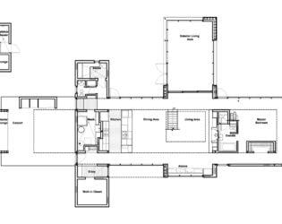 Main Floor Plan for Hurteau-Miller Residence