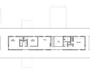Floor plan of the Hurteau-Miller Residence