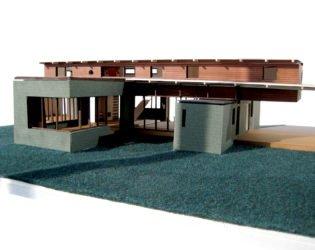 Exterior view of Hurteau-Miller Residence model