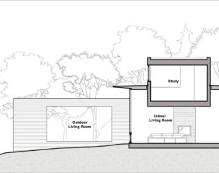 Zoning and functional spacing of the Hurteau-Miller Residence