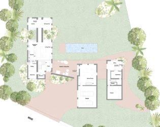 Peak Caribbean Residence: Main Floor Plan