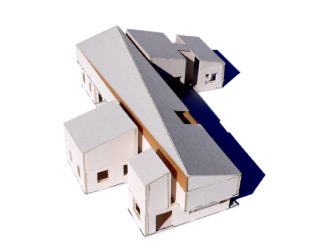 View of PEAK Caribbean Residence closed house model from above