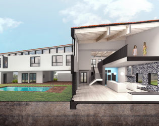 3D Visualization of the Peak Caribbean Residence: Back (river) View