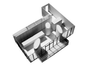 View of Redeveloper Apartment open floor model from above