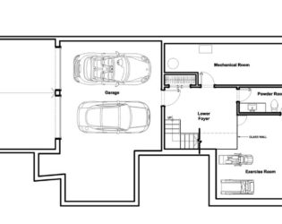 Garage and Floor plan of the Westboro Home