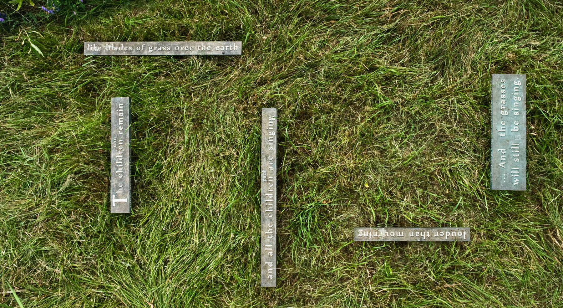 Top-down view of Cemetery Markers