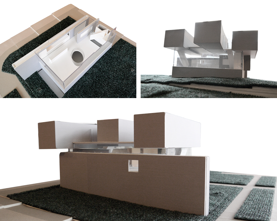 Interior and exterior details of architecture physical models
