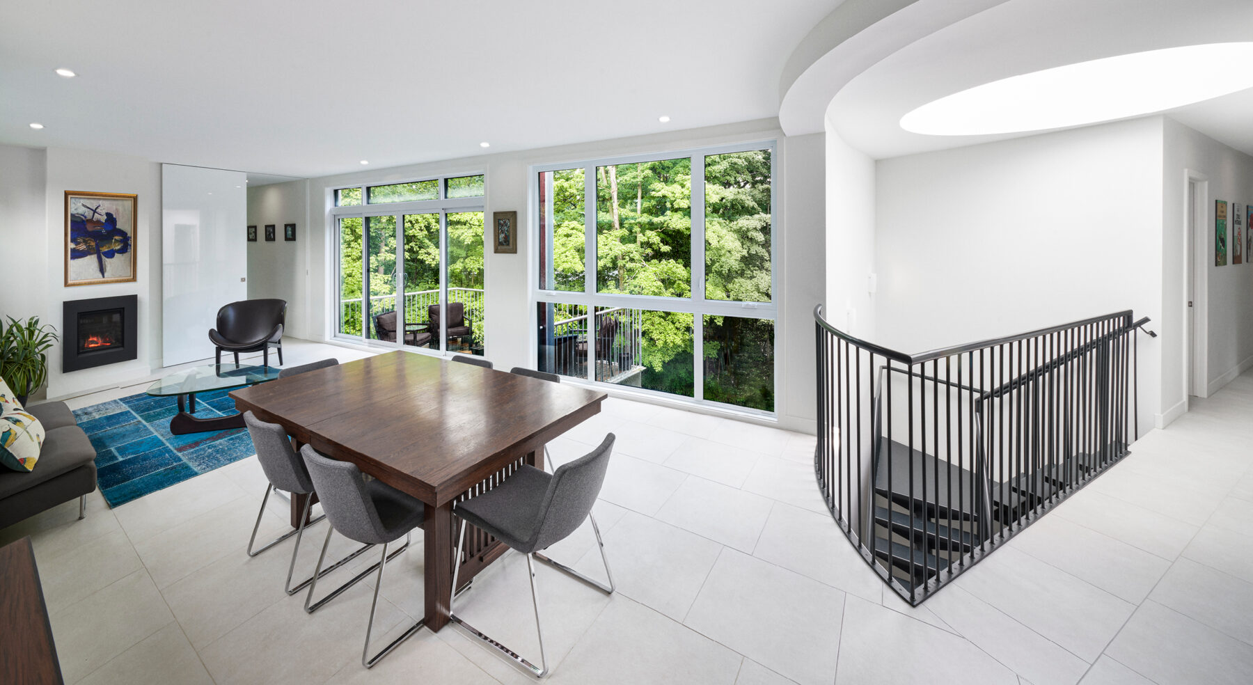 Wide view of DASH Home living and dining room