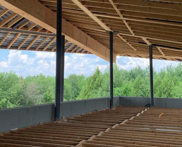Forest Retreat construction progress outdoor view