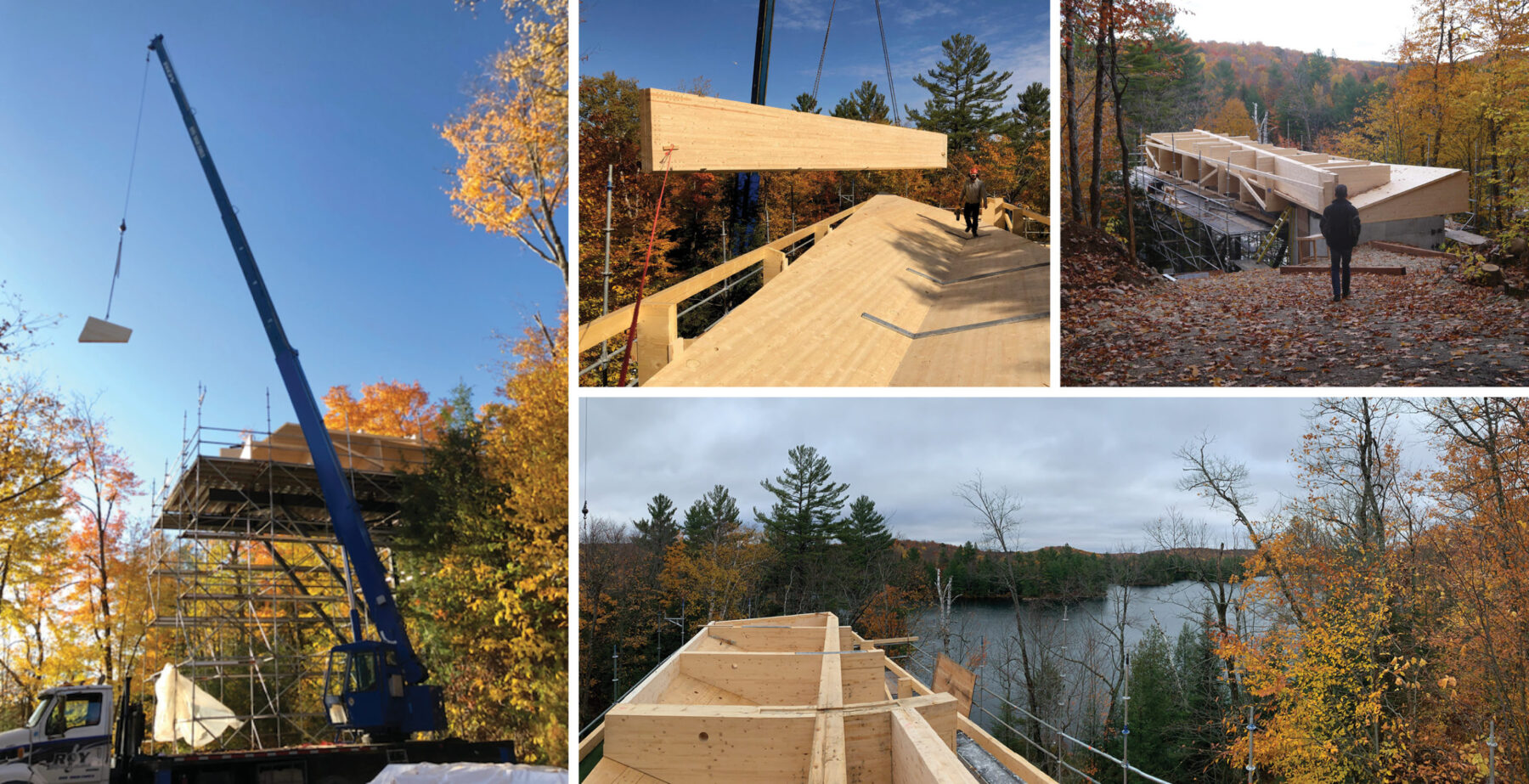 cross laminated timber cottage construction