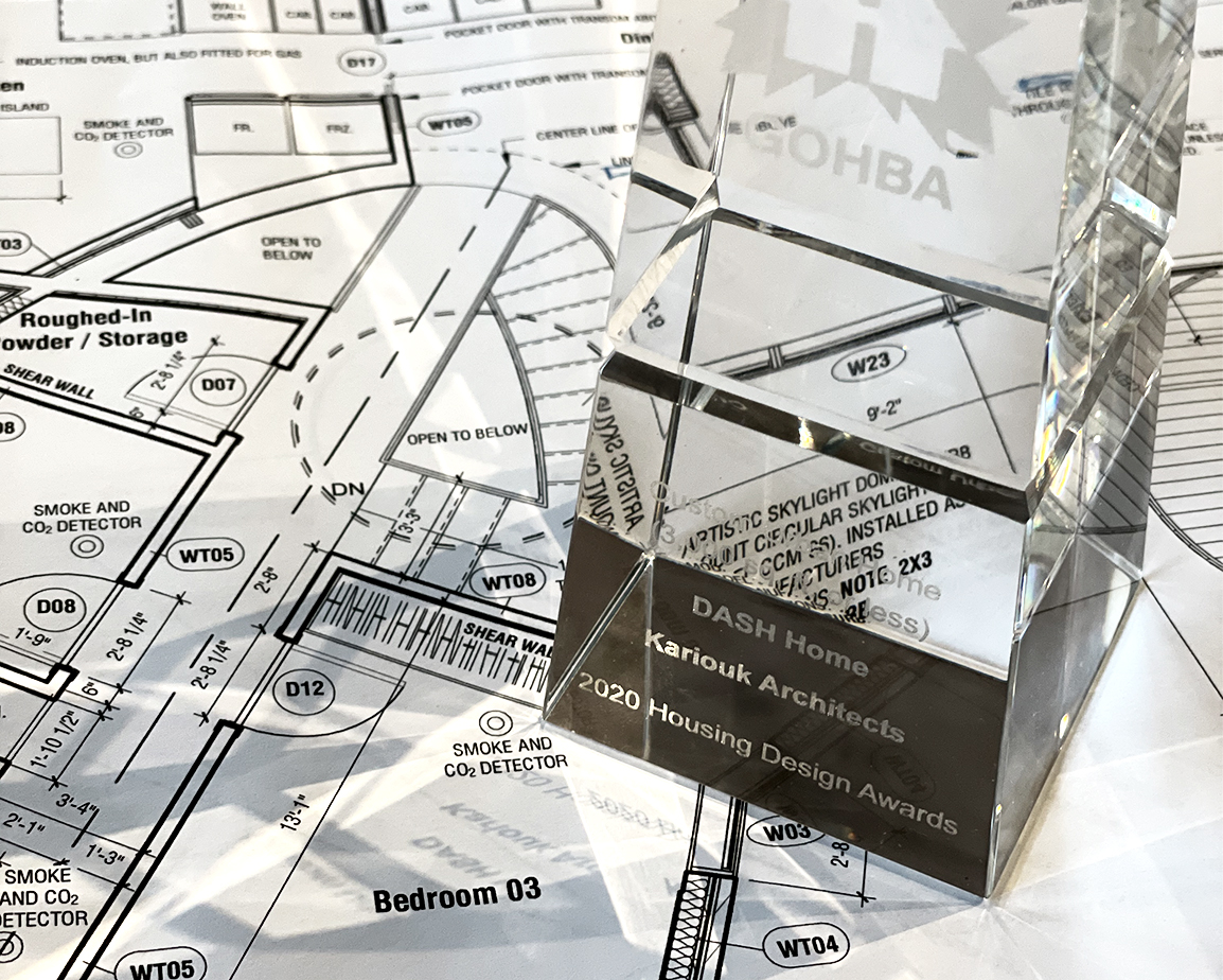 Ottawa architecture firm project award sitting on project plan