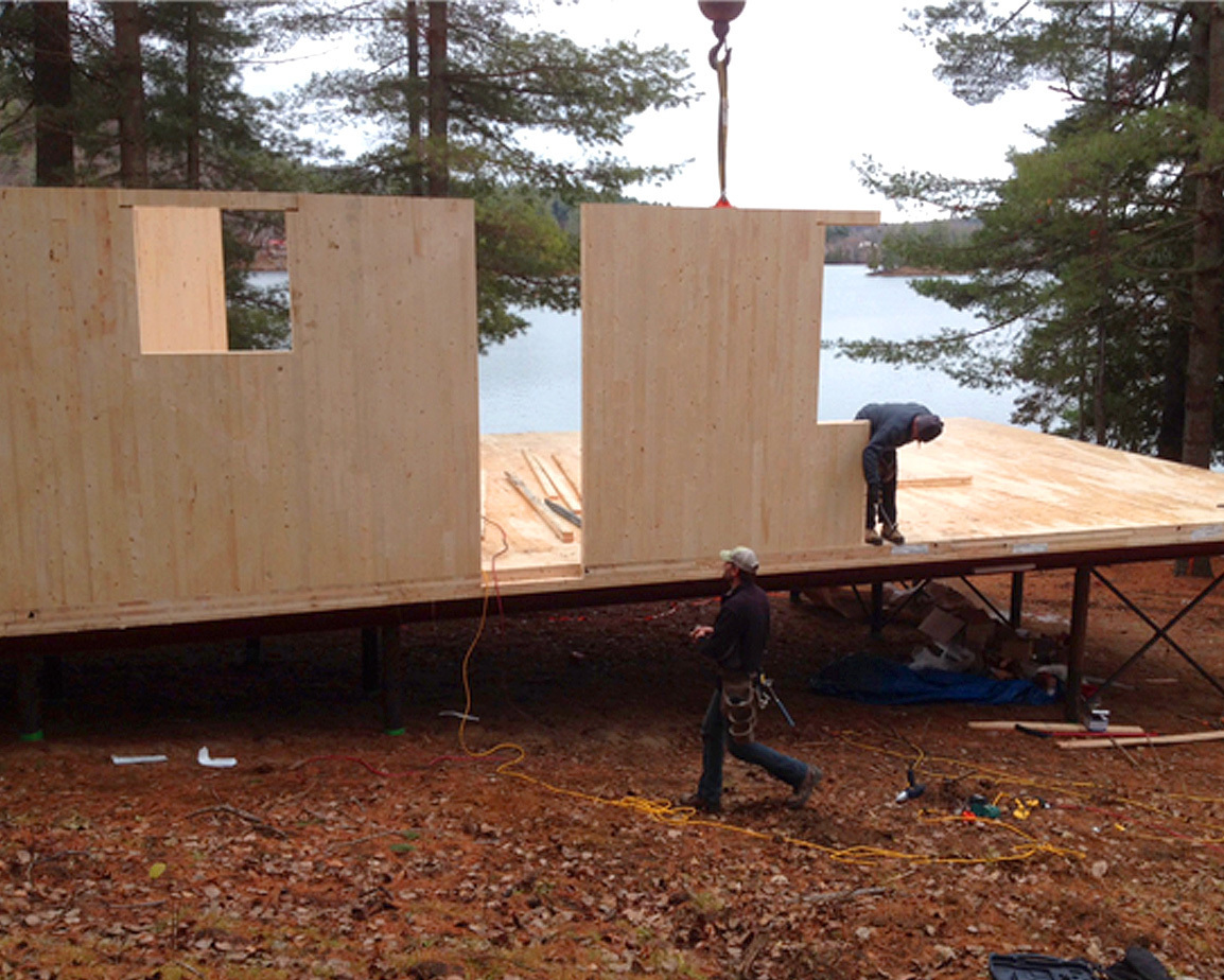 CLT cross laminated timber cottage